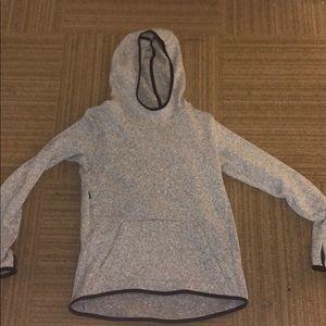 Nike fleece jacket gray